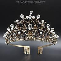 Диадема JB на металлическом ободке Gold с камушками  - 1042241033