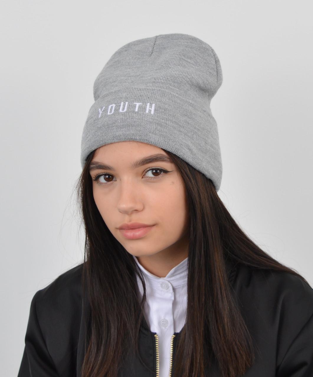 "Шапка ""Домик youth"" св.серый"