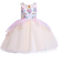 Плаття святкове Казкове бежеве платье единорог детское
