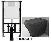 Система інсталяції BOCCHI 120 + унітаз Classico Lavita + вільнопадаюча кришка, фото 1