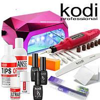Стартовый набор для покрытия ногтей гель лаком  Kodi с LED CCFL лампой 36W и фрезером
