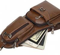 Сумка-рюкзак через плечо JEEP Темно-коричневый JEEP1312, КОД: 969279