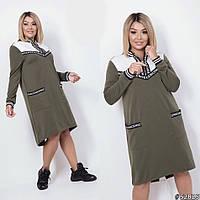 Жіноча трикотажна сукня з двонитки, фото 1