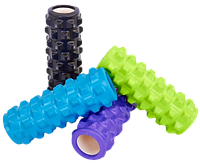 Роллер массажный рельефный Grid Rumble Yoga Roller 10*31 см для йоги, фитнеса и массажа (FI-5394), фото 1