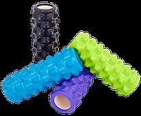 Ролик для массажа 32*11 см, роллер массажный рельефный Grid Rumble Yoga Roller