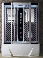 Гидробокс Badico 578JO BO 85х150х210 (Черный) + джакузи и озон, фото 1