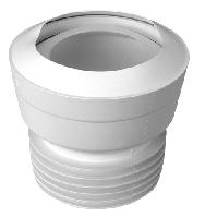 Коліно каналіз. д/ун. MAC1-EXS, еласт., пряме, вхід 90-110 мм, вихід 110 мм. з ущільнюв.