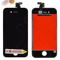 Дисплей iPhone 4S с тачскрином в сборе, цвет черный, копия высокого качества