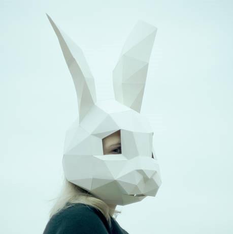 Papercraft Маска зайца круглая