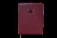 Еженедельник датированный А4, 2020 Buromax BRAVO(Soft), коричневый BM.2780-25 (кремовый блок)