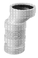 Коліно-підключ. еластичне до WC зміщ.40мм з ущільн. L-110 мм WC-CON4AF