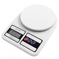Весы кухонные Kitchen SF-400 7кг Белые, фото 1