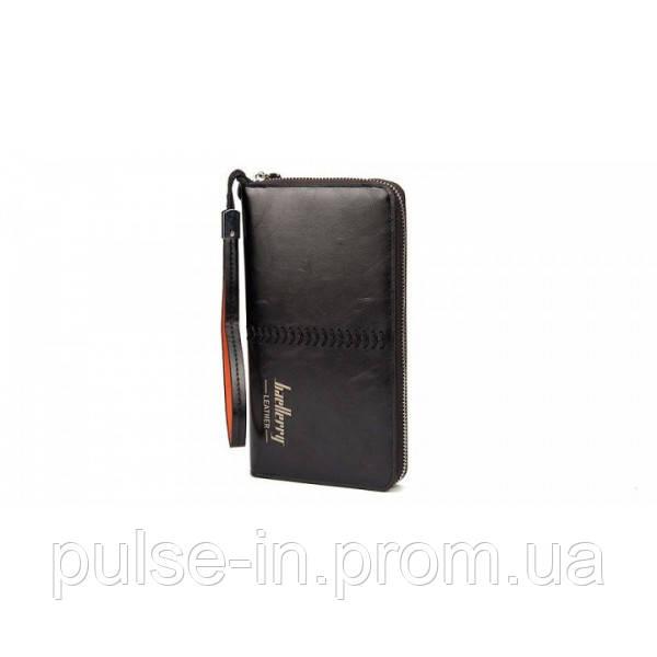 Мужской портмоне-клатч Baellerry Leather Black