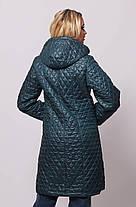 Женская удлинённая демисезонная стёганная куртка с 48 по 76 размер, фото 2