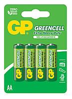 Батарейки GP AA (R6) Greencell Carbon-Zinc (15G-U4) 4шт
