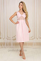 Ночная сорочка Violet delux НС-М-39 розовая XL