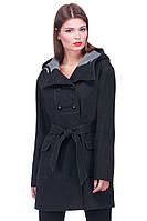 Строгое приталенное женское пальто под пояс, фото 1