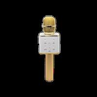 Беспроводной караоке микрофон UTM с динамиками в чехле Bluetooth USB Q7 Gold, фото 1