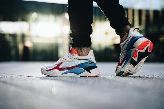 Кроссовки Puma Rs-x Reinvention Cream Red Blue