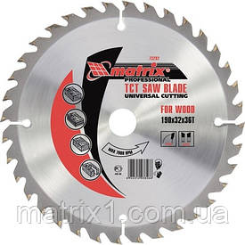 Пильный диск по дереву, 250 х 32 мм, 24 зубов, + кольцо, 30/32// MTX Professional