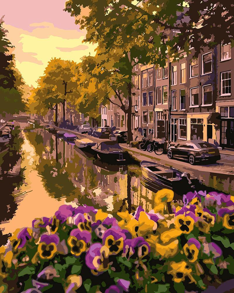 Холст для рисования Цветущий Амстердам (KH3553) 40 х 50 см Идейка