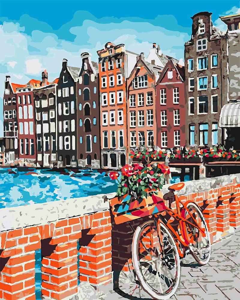 Живопись по номерам Каникулы в Амстердаме (KH3554) 40 х 50 см Идейка