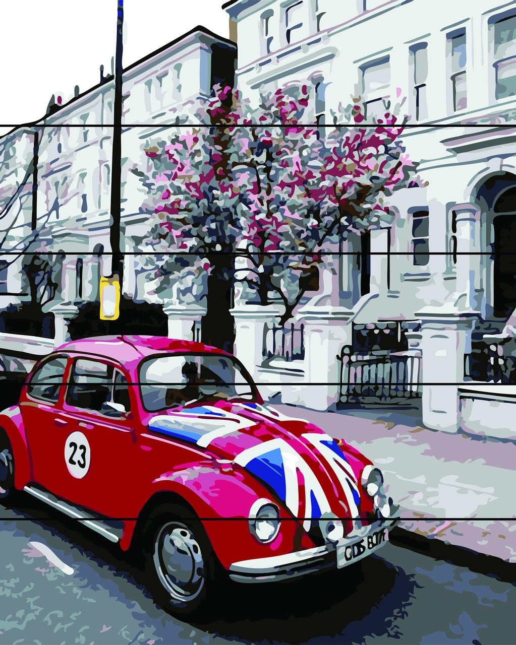 Картина по номерам на дереве Красный жук (RA-AS0199) 40 х 50 см Rainbow Art