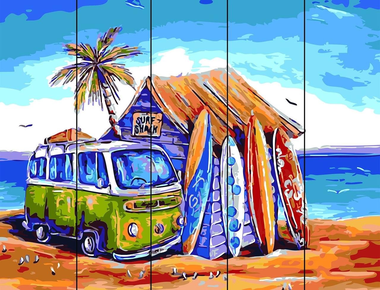 Картина по номерам по дереву На отдыхе (RA-AS0203) 40 х 50 см Rainbow Art