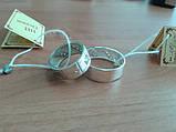 Обручальное кольцо серебряное с золотыми пластинами унисекс 8мм, фото 8