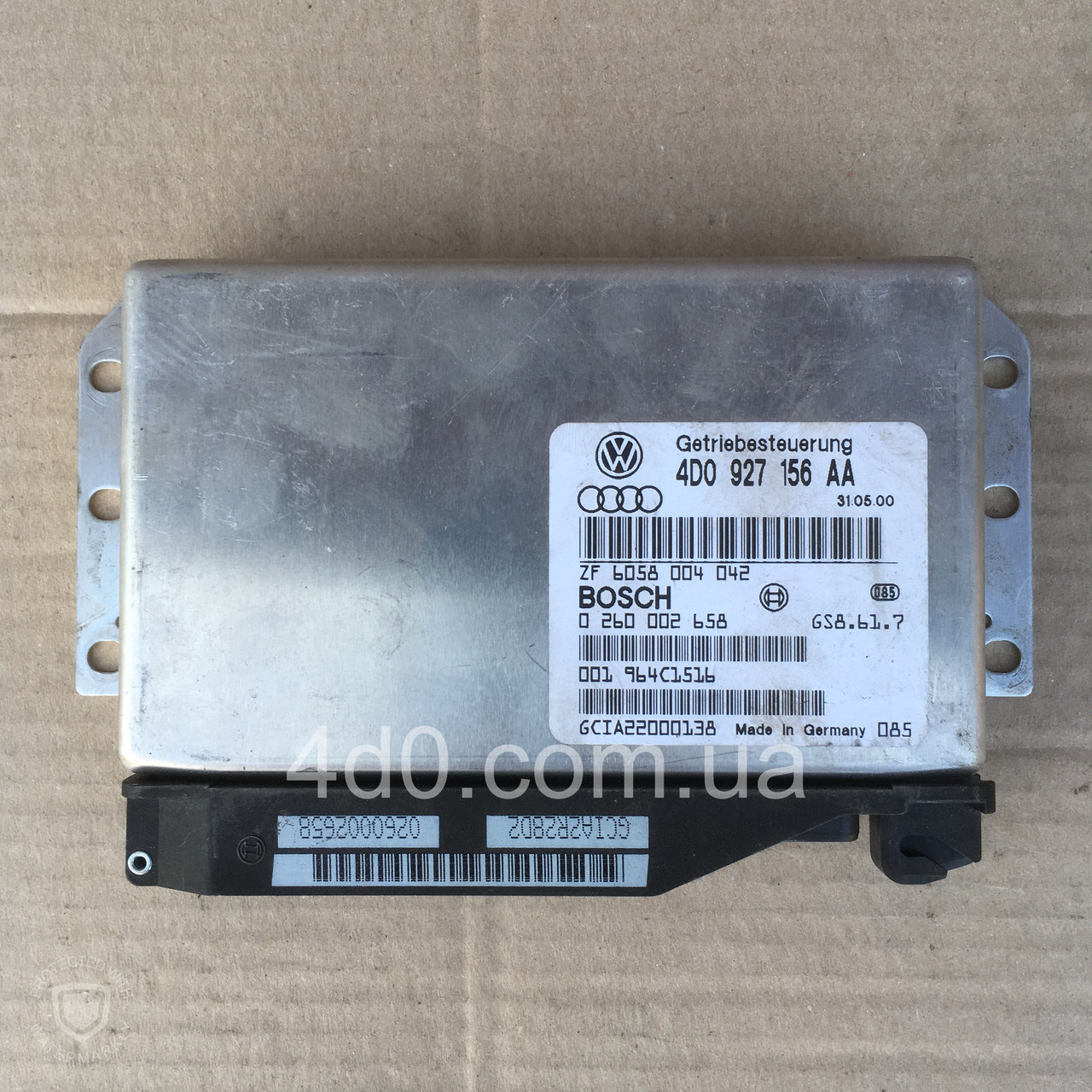 4D0927156AA Блок управління АКПП на Audi A8 D2 3.3