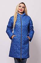 Удлинённая демисезонная женская  куртка  с 48 по 76 размер, фото 3