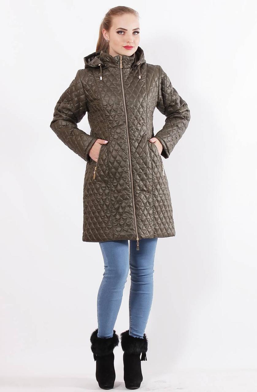 Удлинённая демисезонная женская  куртка  с 48 по 76 размер