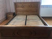 Кровать двухспальная с натурального дерева (массив ясеня) Я-2