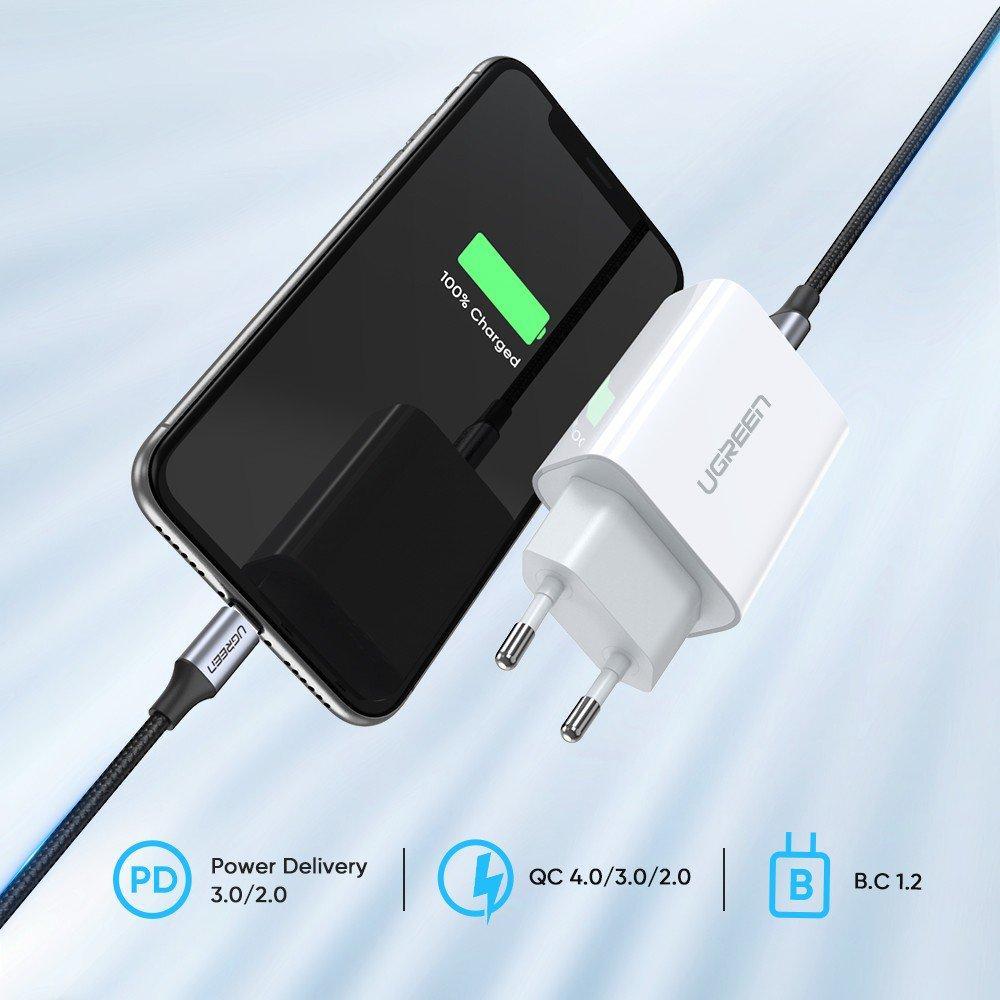 Зарядное устройство Ugreen Qualcomm Quick charge 4.0 Power Delivery 3.0 20W (CD137), фото 6