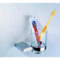 Стакан подвесной стеклянный BADICO 5702 (chrome plating)