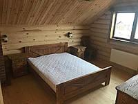 Кровать двухспальная с дерева (массив ясеня) Я-3