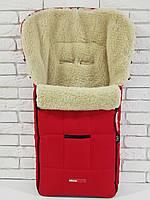 Зимний конверт на овчине в коляску Z&D New (Красный)