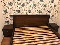 Кровать двухспальная деревянная (массив ясеня) Я-4