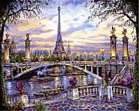Картина по номерам Воспоминания о Париже (NB397R) 40 х 50 см DIY Babylon Premium (в раме)