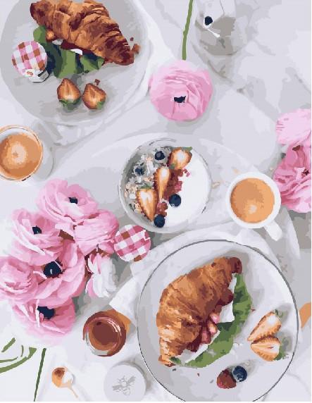 Картина по номерам Французский завтрак (PGX23709) 40 х 50 см Brushme Premium