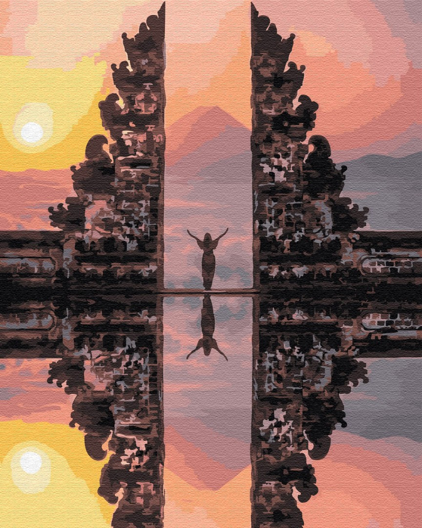 Картина по номерам Храм Лемпуянг Бали (PGX29705) 40 х 50 см Brushme Premium
