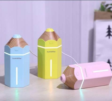 Увлажнитель воздуха - ночник humidifier Pencil (разные цвета), фото 2