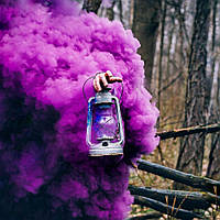 Цветной дым, фиолетовый, 35 сек., Фіолетовий дим, густой дым