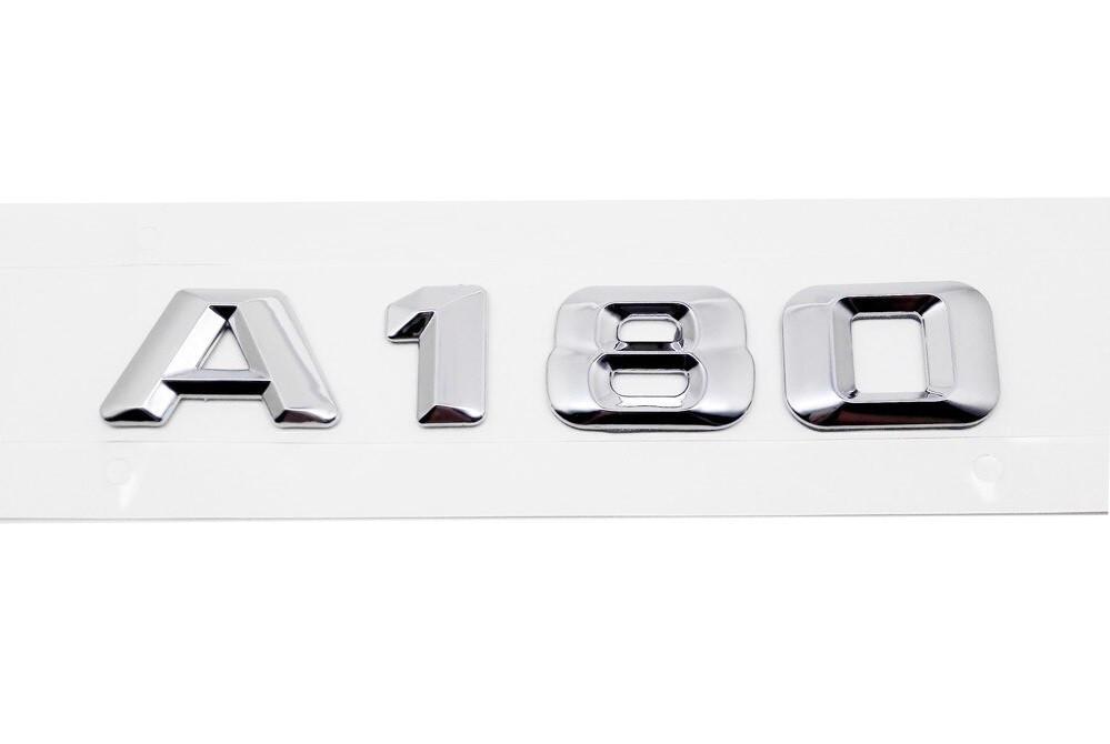 Хромированная Эмблема Шильдик надпись A180 Мерседес Mercedes