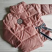 ✅Куртка  для девочки демисезонная розовая Размеры  104 116 128