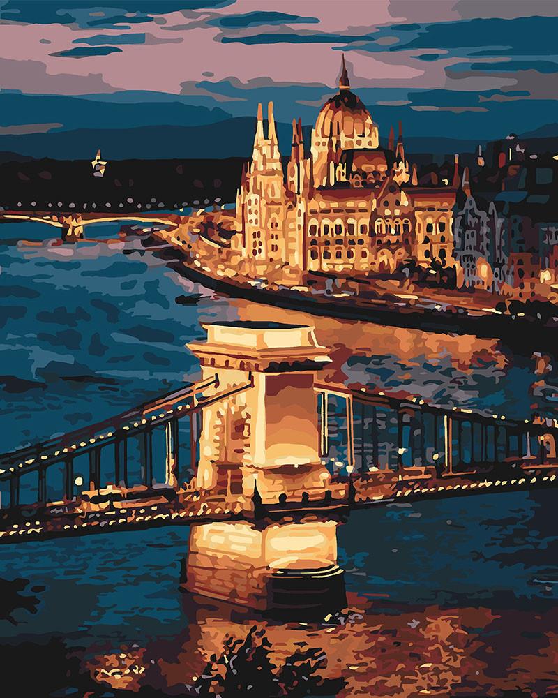 Рисование по номерам Прекрасный Будапешт (KH3557) 40 х 50 см Идейка