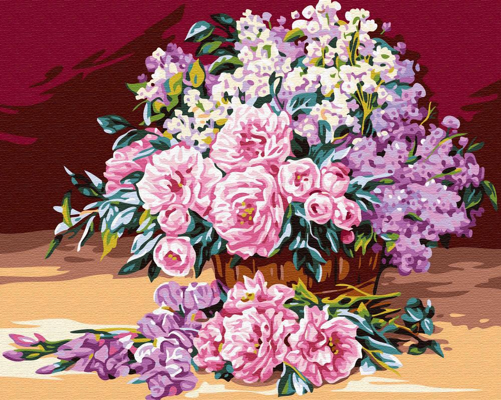 Картина по номерам Корзинка роз (BRM24105) 40 х 50 см