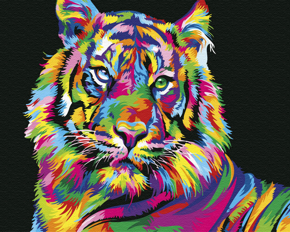 Картина по номерам Радужный тигр (BRM26176) 40 х 50 см