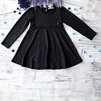 Детское черное платье Breeze для девочки 172. Размер 110 см, 116 см (6 лет), 128 см (8лет), 134 см, 140 см, фото 1