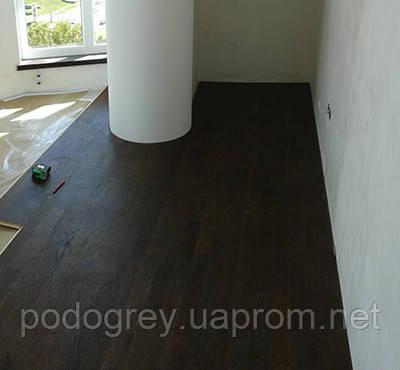 Пленочный теплый пол и деревянное финальное покрытие